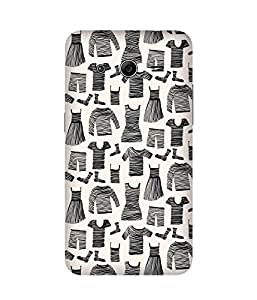 Black Striped CLothes-1 Samsung Galaxy Core 2 Printed Back Cover