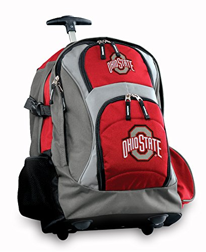 Osu Buckeyes Rolling Backpack Deluxe Red Ohio State Backpacks Bags With Wheels