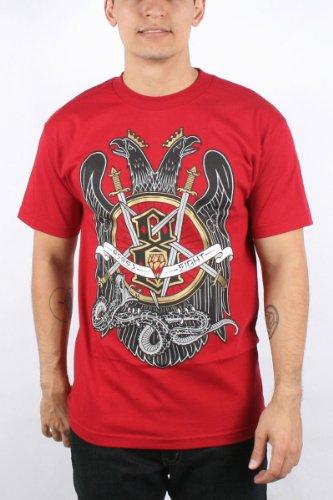 Rebel8 - Slayed Mens T-shirt in Cardinal, Size: Medium, Color: Cardinal
