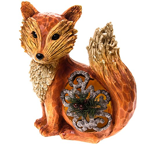 Fox With Led Candle Home Decor