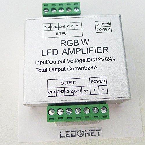 Ledenet® Rgbw Led Amplifier Data Signal Repeater 4Ch Channels Circuit Aluminum Shell For Rgbw Rgbww Led Lights Strip 12V 24V 24A