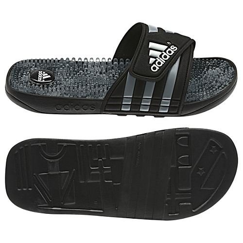 Adidas Men'S Adissage Camo Slides, Black/Medium Lead/White, 11 back-1078892
