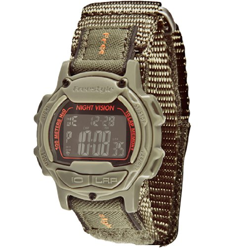 Freestyle Men's FS84997 Predator Round Running Digital Top Buttons Watch