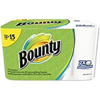 12-Pack Bounty 88197 Perforated Towel Rolls (White)