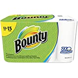 """Bounty 88197 Perforated Towel Rolls, 11"""" x 10-2/5"""", White (Pack of 12)"""