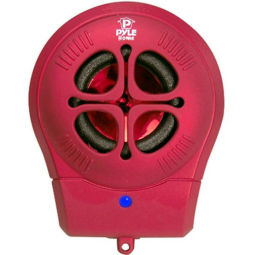 Pyle-Home Pms6R Chainable Rechargeable Mini Capsule Speakers With Bass Expansion For Ipod/Iphone/Android/Laptop (Red)