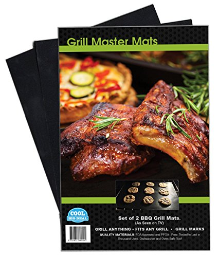 Review Of Set of 2 BBQ Grill Mats. As Seen on TV. Our Large Quality Mat Works on Any BBQ Grill or as...