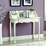 Monarch Traditional Secretary Desk, 36-Inch, Antique White
