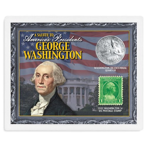 American Coin Treasures Kids - A Salute to America's Presidents - George Washington Coins & Stamps