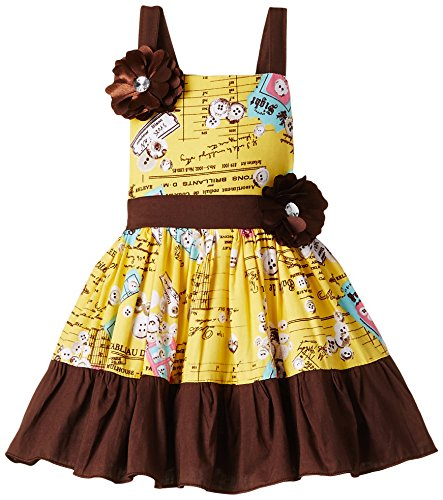 Priyank Baby Girls' Dress (179Yellow_6-12 months)
