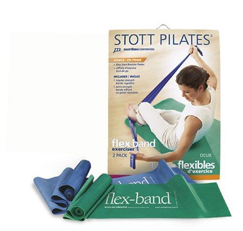 Stott Pilates Flex-Bands Gift Pack (Blue and Green)