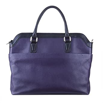 Designer Leather Work Tote Bag For A Laptop And Ipad Or