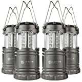 Active Research LED Lantern - Best Ultra Bright Portable Flashlight - Water Resistant Lantern For Camping, Outdoors, Hunting, Emergencies, Hurricanes, Outages - 30 LED Battery Powered - 4-Pack