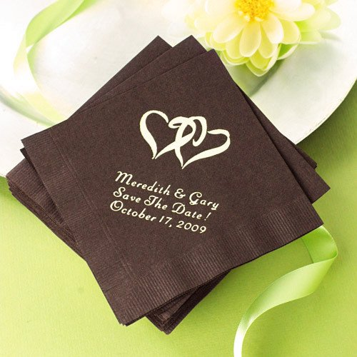 personalized wedding napkins personalized napkins