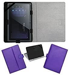 Acm Leather Flip Flap Carry Case For Vizio 3d Wonder Tablet Holder Stand Cover Purple