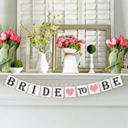 Bride to Be Banner for Bridal Shower and Bachelorette Party - Decorations and Photo Prop