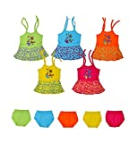 #4: Sathiyas Baby Girls Dresses (Pack of 5) (0-3 Months)