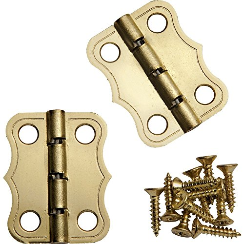 Decorative 90° Stop Hinges, Brass, Pair (Box Hinges compare prices)