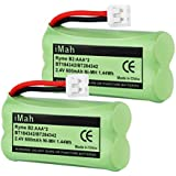 iMah Ryme B2 Rechargeable Cordless Phone Battery Pack, 2-Pack