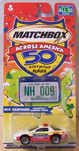 Matchbox Across America 50th Birthday Series New Hampshire Camaro Police - 1