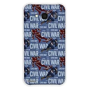Marvel Civil War PBMARREDMI2PRI011 Action Back Cover for Redmi 2 Prime (Multicolor)