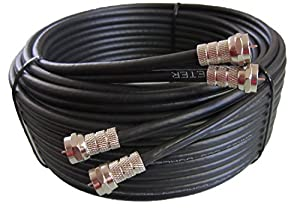 30m black twin satellite cable extension kit. Black Bedroom Furniture Sets. Home Design Ideas