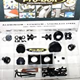 PRO BOLT FULL MONTY ACCESSORY KIT FITS KAWASAKI ZX6R NINJA J1-J3 00-02 BLACK