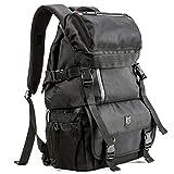 Camera Backpack - Evecase Digital SLR Camera Water Resistant MultiPurpose Daypack - Black