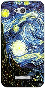 The Racoon Grip The Starry Night hard plastic printed back case / cover for HTC Desire 616