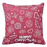 【Koana Shop】子どものようなクリスマスの落書き クッションカバー 45x45cm おしゃれ 車用クッション ホーム インテリアー 雑貨 抱き枕カバー