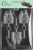 Cybrtrayd K072 Castle Lolly Chocolate Candy Mold with Exclusive Cybrtrayd Copyrighted Chocolate Molding Instructions