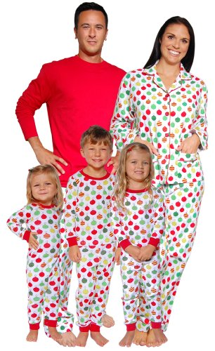 SleepytimePjs Christmas Ornaments Family Matching Pajamas-W-Lounger-Med