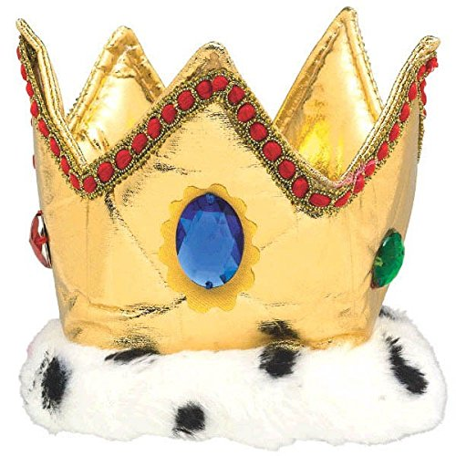 "Amscan Majestic Party King Crown, 6"", Gold"