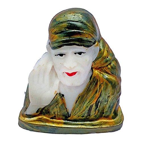 Marble Look Lord Sai Baba Car Dashboard Idol God Shri Sai Nath Statue Shirdi Sai Decorative Spiritual Puja Vastu Showpiece Figurine - Religious Pooja Gift Item for Mandir / Home  available at amazon for Rs.238