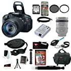 Canon EOS Rebel T5i 18.0 MP CMOS Digital SLR with 18-135mm EF-S IS STM Lens Bundle + 32GB SD Card + Tiffen 67mm UV Protector and Circular Polarizing Lens + Replacement Battery Pack for LP-E8 + Deluxe SLR Soft Shell Case + Accessory Kit