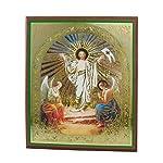 Ikone Auferstehung auf Holzplatte