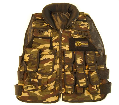 Wellfire Army Combat airsoft Assault Tactical Cargo Vest in Camo