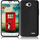 Pleasing Black Soft Premium Silicone Case Cover Skin Protector for LG Optimus L70 (by Cricket / Metro PCS / Sprint / Verizon) with Free Gift Reliable Accessory Pen