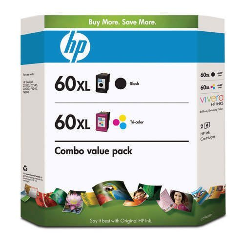 Genuine HP 60XL Black/60XL Color Club Combo Pack