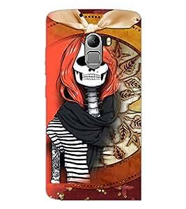 PrintDhaba Funny Skeleton D-4105 Back Case Cover for LENOVO K4 NOTE A7010 (Multi-Coloured)