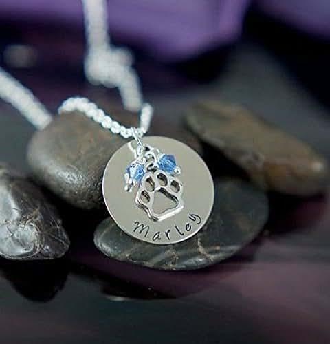 Amazon.com: Personalized Paw Print Necklace