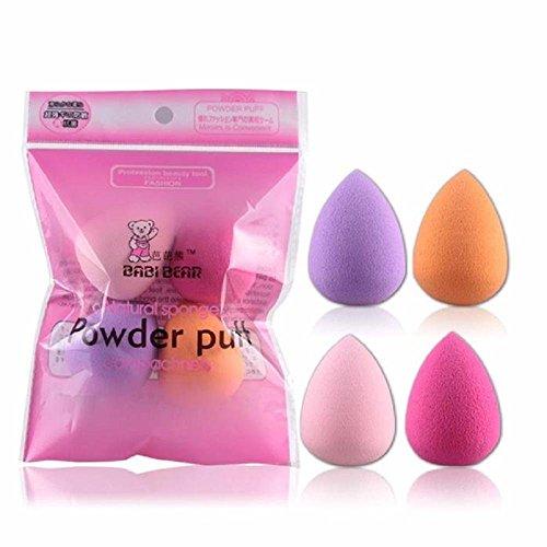Doinshop 4pcs Pro Beauty Flawless Makeup Blender Foundation Puff Mix Color Shape Sponges