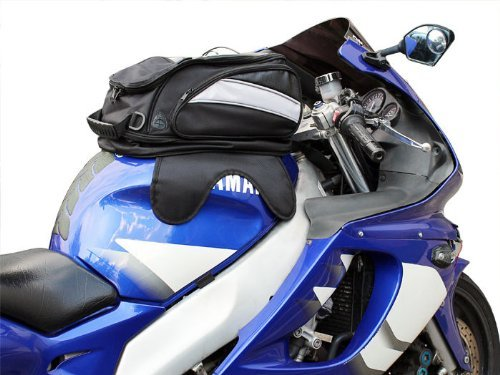 Black Motorcycle Sport Bike Riding Magnetic Gas Tank Bag Backpack W/ Rain Cover front-174190