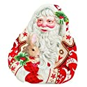 Fitz and Floyd Town & Country Santa Canape Plate