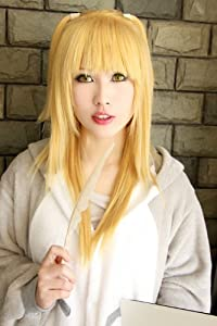 DEATH NOTE Amane Misa pre-styled light Blonde cosplay wig + yellow wig cap