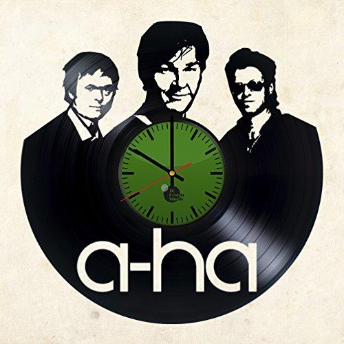 A-ha-Morten-Harket-Handmade-Vinyl-Record-Wall-Clock-Fun-gift-Vintage-Unique-Home-decor-Art-Design-Retro-Interier
