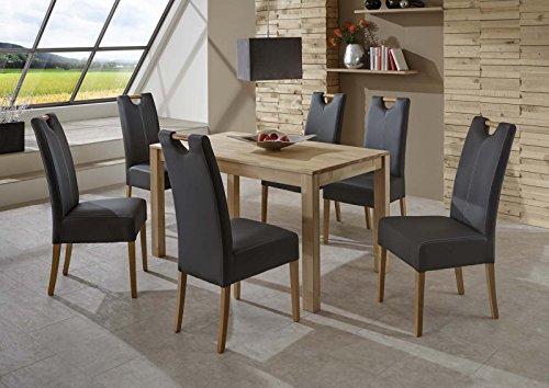 SAM-Massiver-Esszimmer-Tisch-Barni-80-x-140-cm-aus-Kernbuche-Esszimmertisch-mit-natrlicher-Maserung-exklusiver-Holztisch-mit-Ansteckplatten-erweiterbar-fr-Ihre-Wohnung