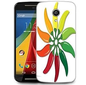 Snoogg Chilli Pepper Wheel In Vector Forma Designer Protective Phone Back Case Cover For Motorola G 2nd Genration / Moto G 2nd Gen