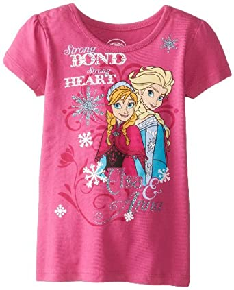 Disney Little Girls' Frozen Strong Bond Tee, Purple, 2T