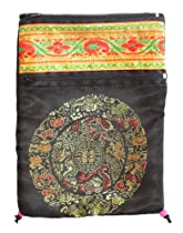 Tarot Bag in Black with Mandala, Silk and Velvet